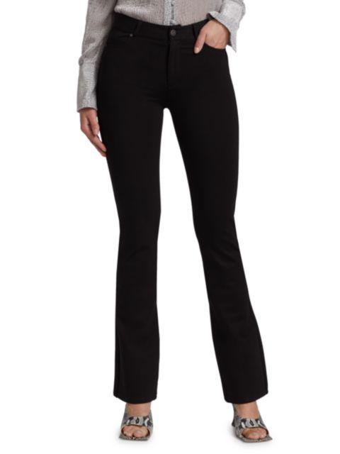 Paige Jeans Ponte High-Rise Manhattan Bootcut Jeans | SaksFifthAvenue