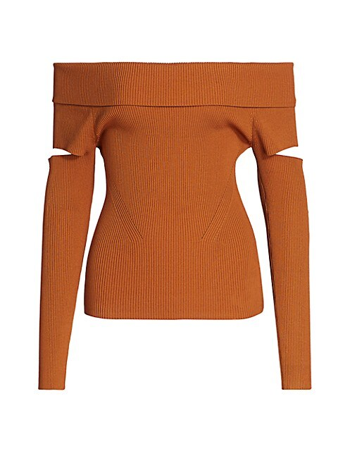 Zayla Compact Off-The-Shoulder Sweater