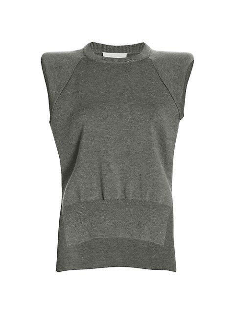 Collins Recycled Knitwear Padded Shoulder Tank