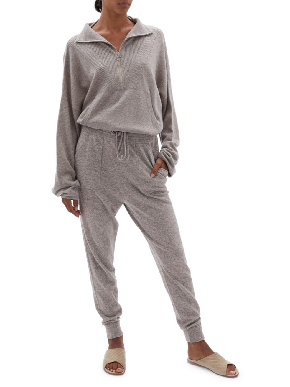 Jonathan Simkhai Hana Loungewear Knit Half-Zip Pullover   SaksFifthAvenue