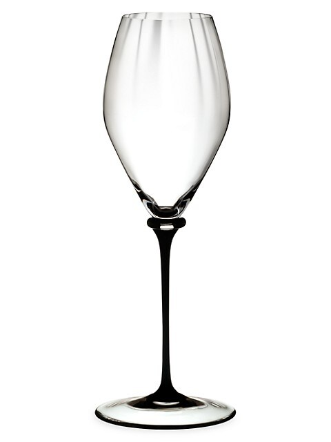 Riedel Fatto A Mano Performance Black Stem Champagne Glass