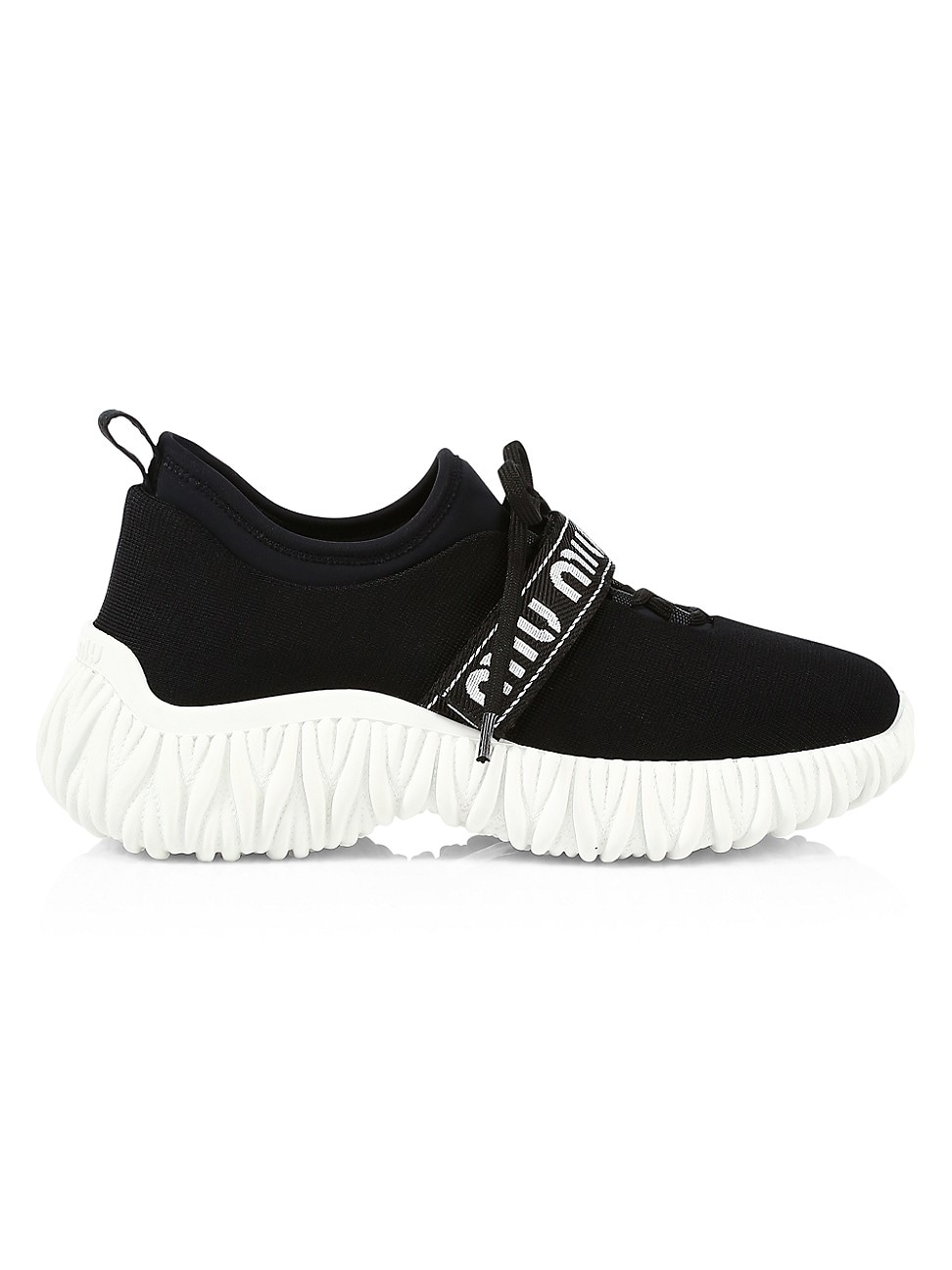 MIU MIU WOMEN'S STRETCH-KNIT SNEAKERS