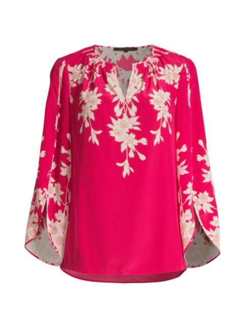 Kobi Halperin Cooper Floral Silk Blouse   SaksFifthAvenue