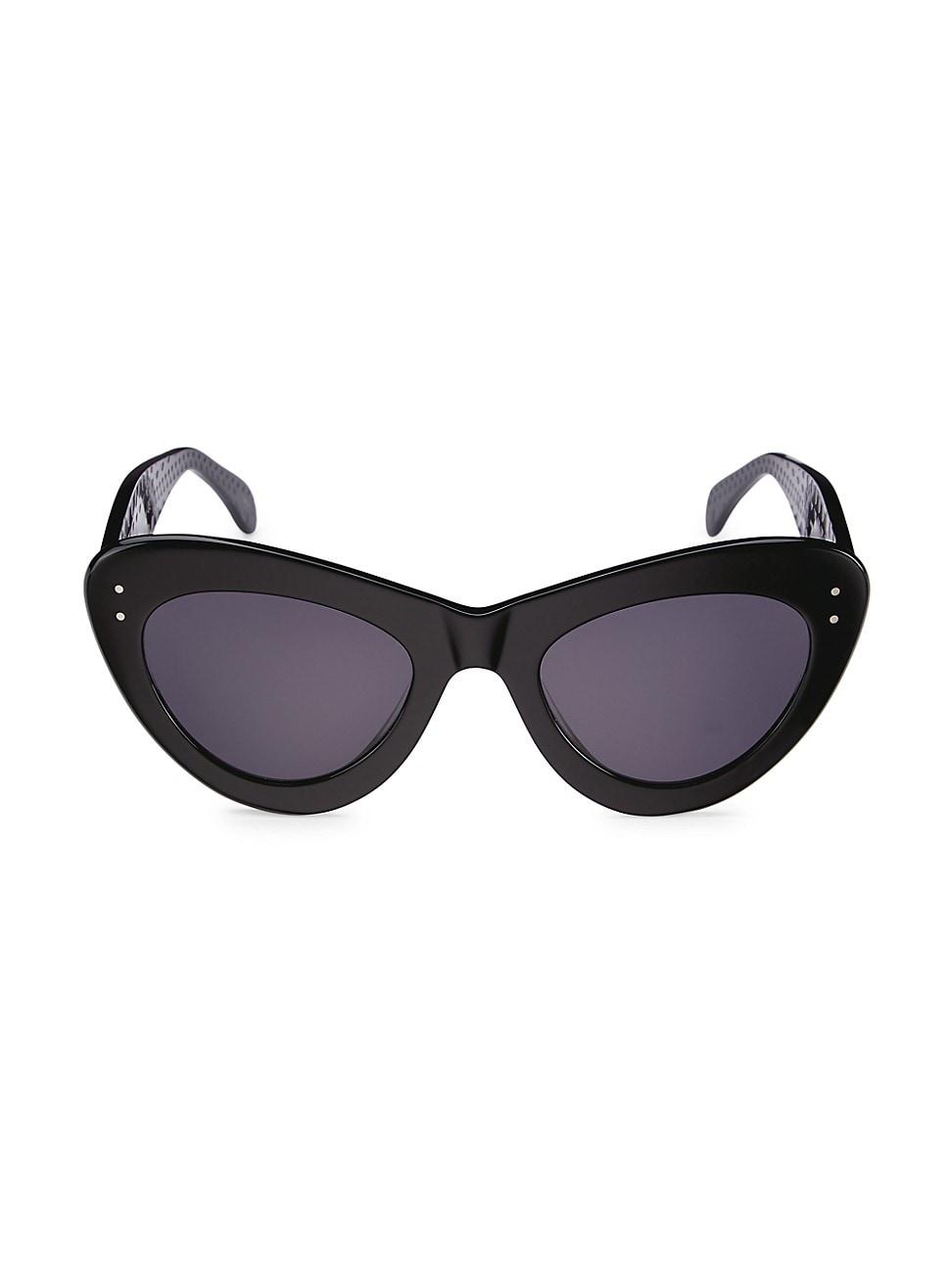 Alaïa 52mm Cat Eye Sunglasses In Black