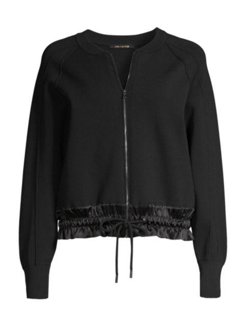 Kobi Halperin Zeina Zip-Up Ruched-Hem Sweater | SaksFifthAvenue