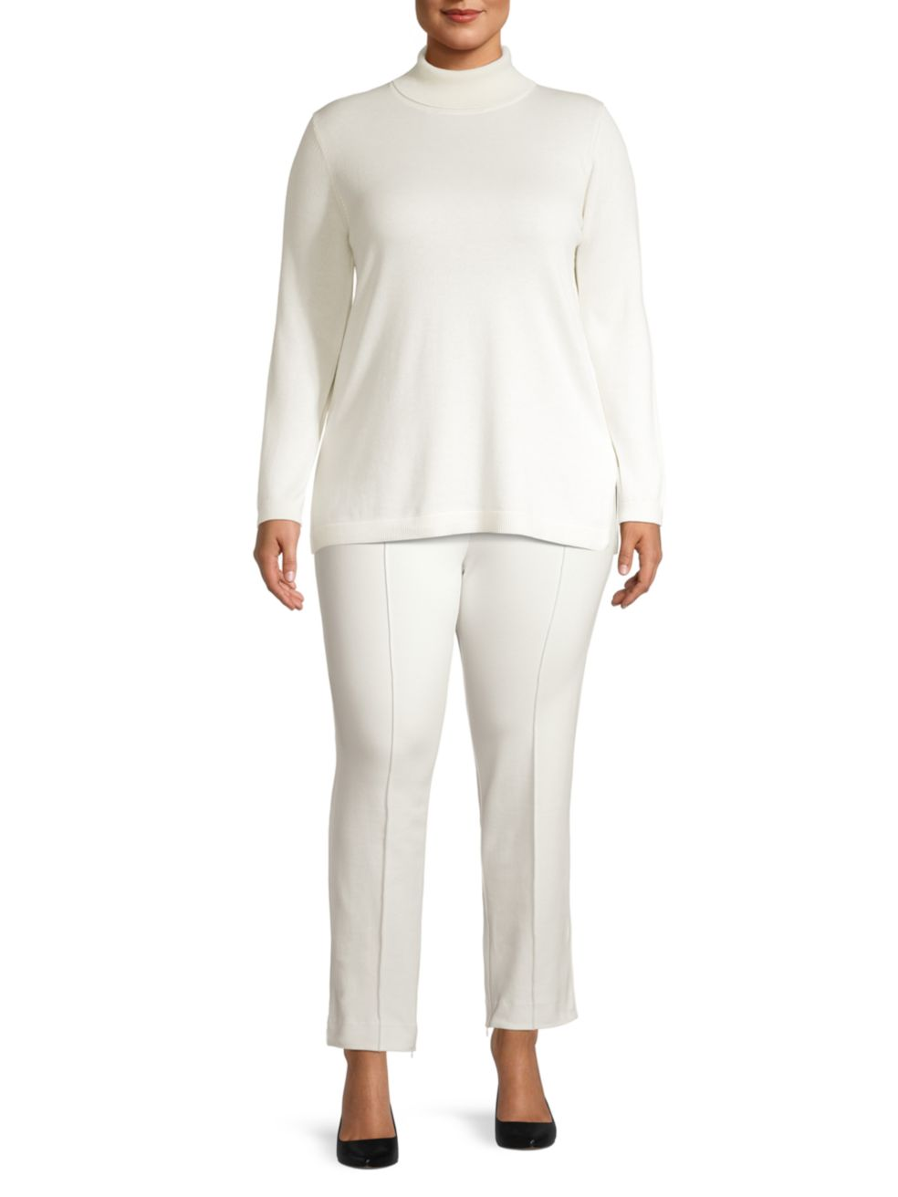 Joan Vass, Plus Size Knit Turtleneck Tunic   SaksFifthAvenue