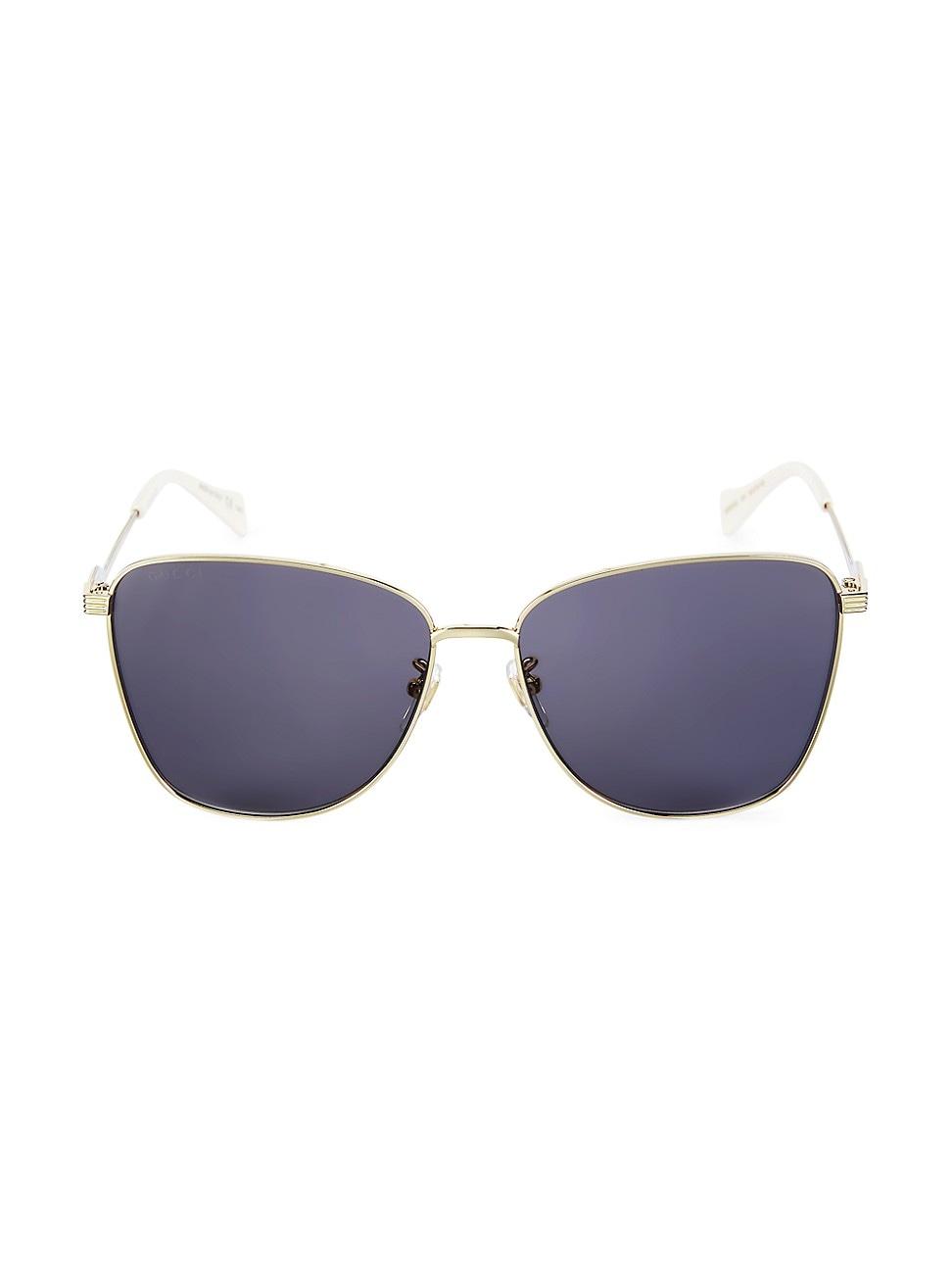 Gucci Women's 60mm Square Sunglasses In Gold