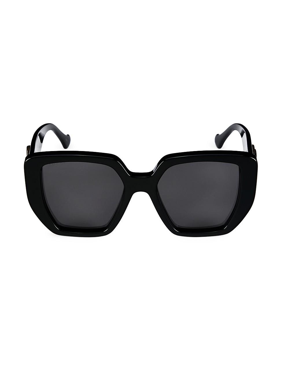 Gucci Generation 54mm Oversized Rectangular Sunglasses In Black