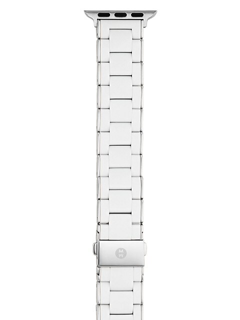 Apple Watch® Silicone-Wrapped Stainless Steel Bracelet Strap/38MM & 40MM