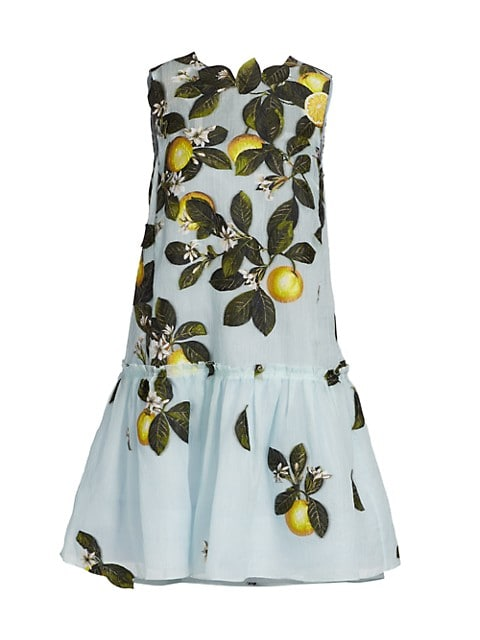 Citrus Primavera Peplum Hem Dress