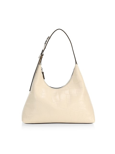 Scotty Croc-Embossed Leather Hobo Bag