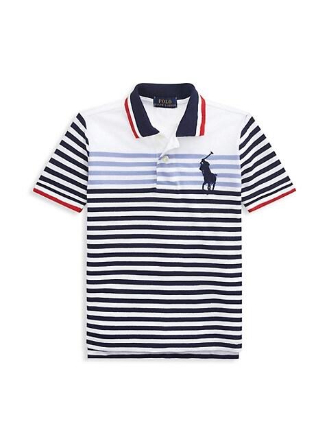 Ralph Lauren Little Boys & Boys Basic Mesh Striped Polo T-Shirt