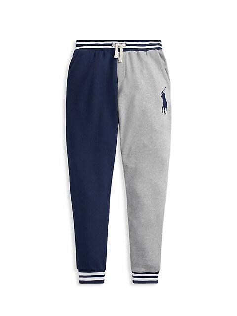 Ralph Lauren Little Boys & Boys Colorblock Lightweight Terry Sweatpants