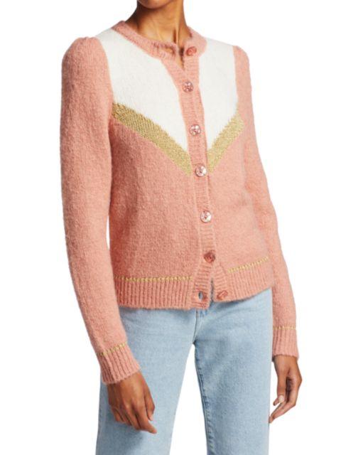 ByTiMo Hairy Knit Glitter Cardigan | SaksFifthAvenue