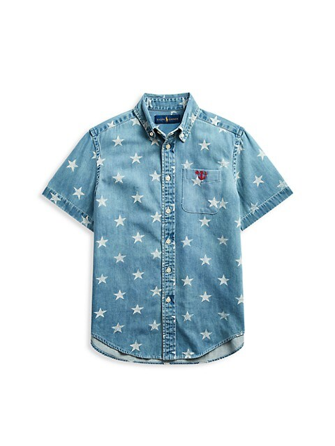Ralph Lauren Little Boys & Boys Star Print Denim Shirt
