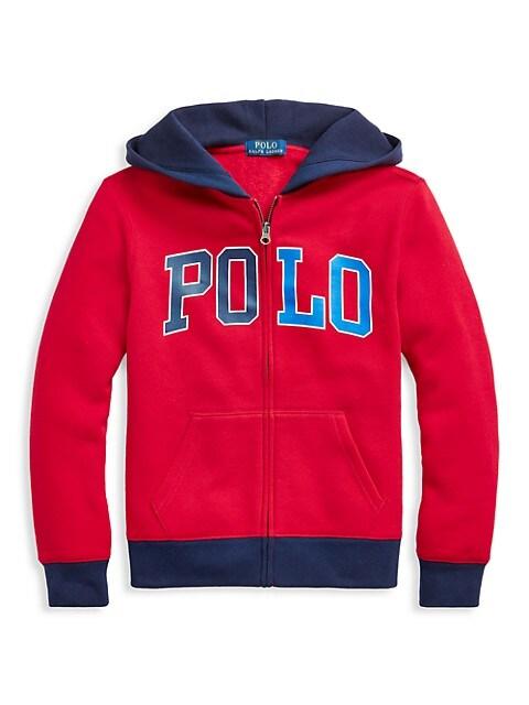 Ralph Lauren Little Boys & Boys Logo Fleece Zip Sweater