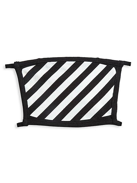 Diagonal Stripes Face Mask