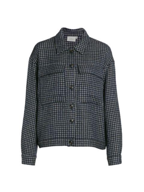Gestuz Wool-Blend Grid Jacket | SaksFifthAvenue