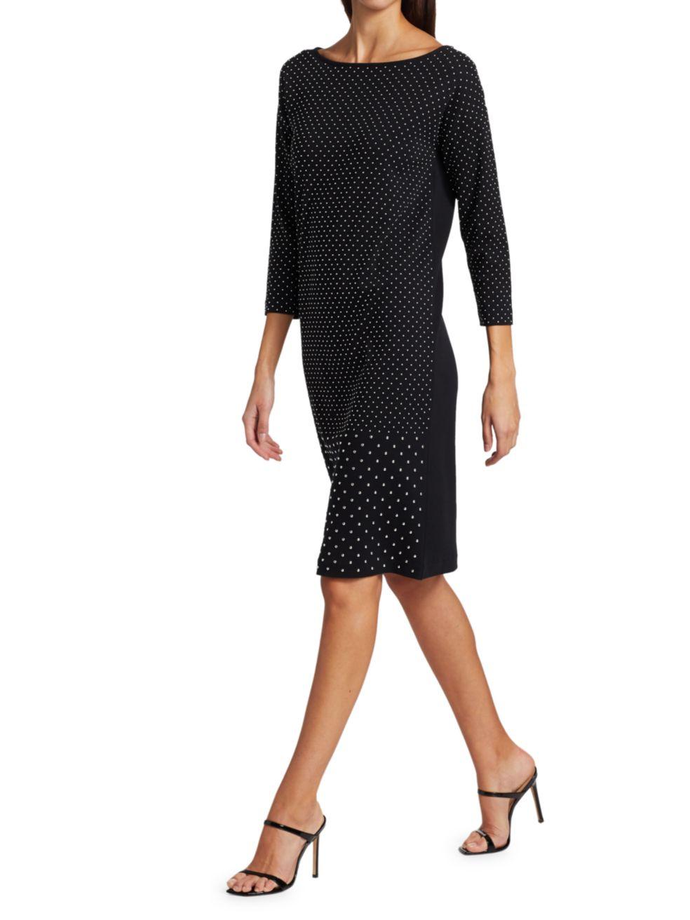 Joan Vass Studded Shift Dress | SaksFifthAvenue