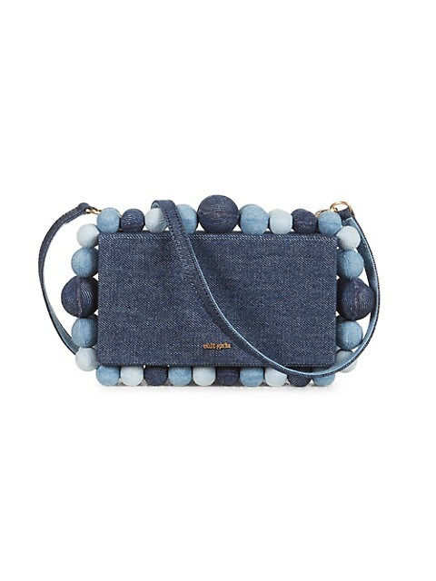 Eos Bauble Denim Crossbody Box Bag