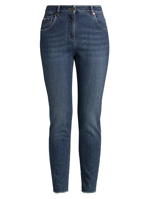 Skinny Raw Edge Jeans