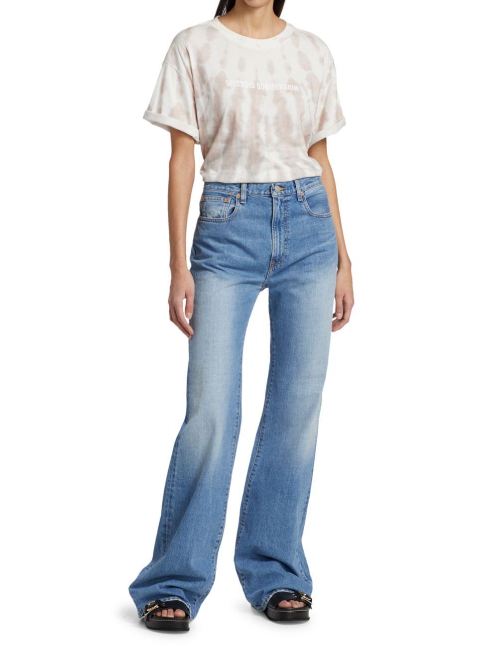 Denimist Evelyn High-Rise Wide-Leg Jeans   SaksFifthAvenue
