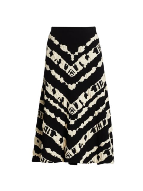 Proenza Schouler White Label Animal Jacquard Knit A-Line Skirt | SaksFifthAvenue