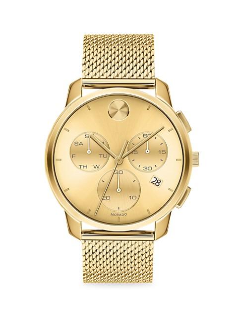 BOLD Thin Evolution Goldtone Stainless Steel Bracelet Watch