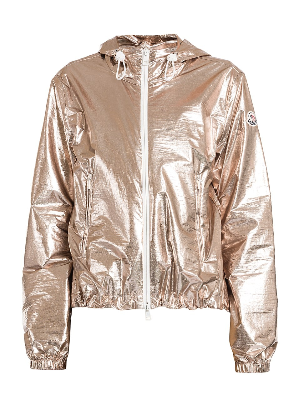 Moncler WOMEN'S ESCHAMALI METALLIC HOODED ZIP-UP JACKET