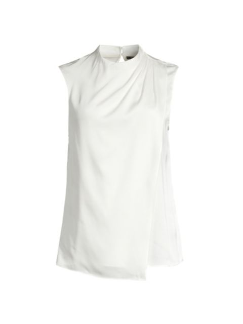 Kobi Halperin Kadi Draped Sleeveless Stretch-Silk Top   SaksFifthAvenue