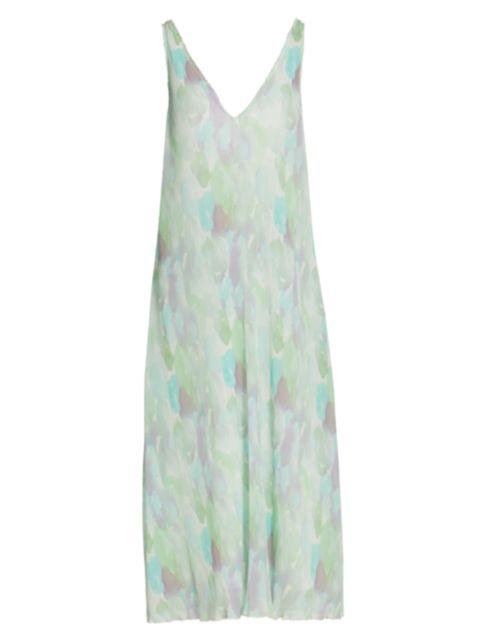 Ganni Pleated Georgette Midi Dress | SaksFifthAvenue