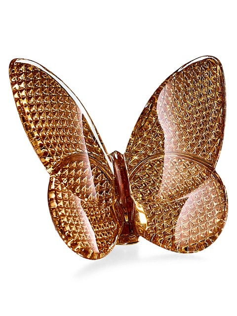 Lucky Butterfly Diamant 20K Gold & Crystal Sulpture
