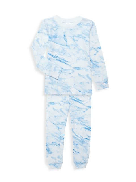 Little Boy's & Boy's Wolf 2-Piece Long Pajama Set