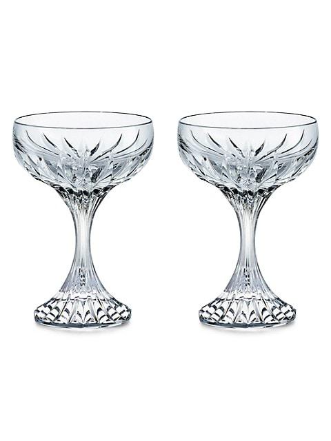 Massena 2-Piece Coupe Glass Set