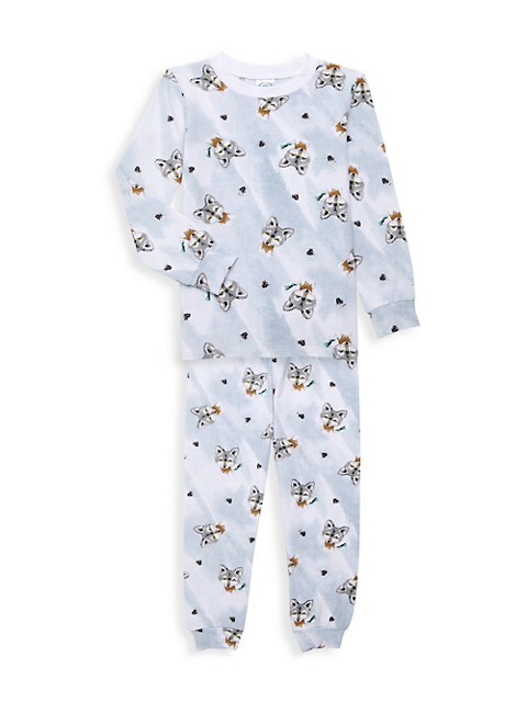Little Boy's Boy's Wolf 2-Piece Long Pajama Set