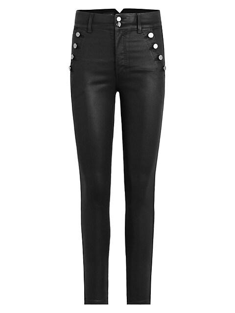 The Georgia Coated High-Rise Skinny Jeans