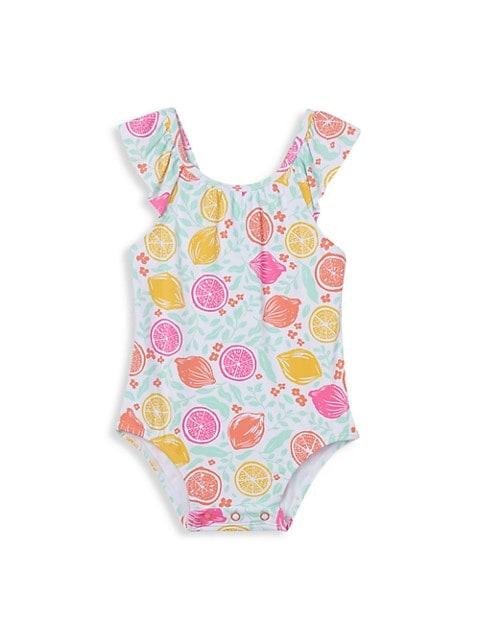 Baby Girl's Citrus Ruffle One-Piece Swimsuit