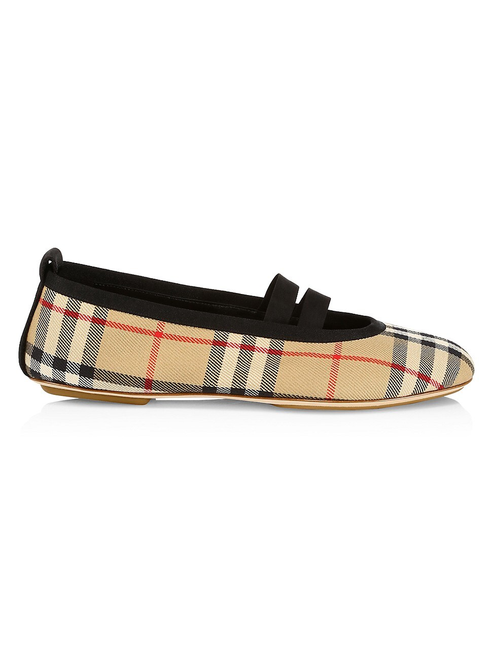 Burberry Leathers WOMEN'S VINTAGE CHECK BALLET FLATS