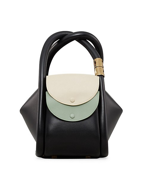 Wonton Colorblock Leather Tote