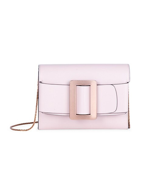 Buckle Leather Crossbody Bag