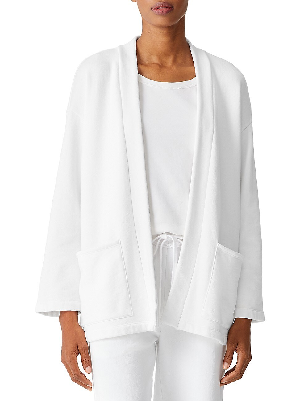 Eileen Fisher WOMEN'S BOXY OPEN KNIT JACKET