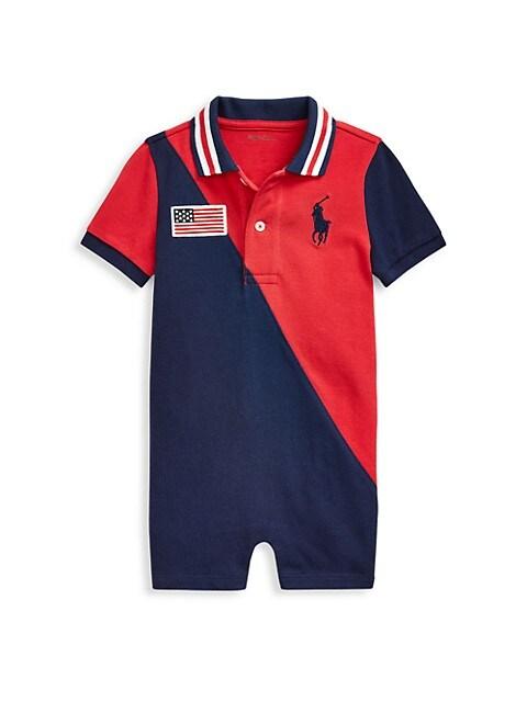 Baby Boy's Basic Mesh Polo Shirtall