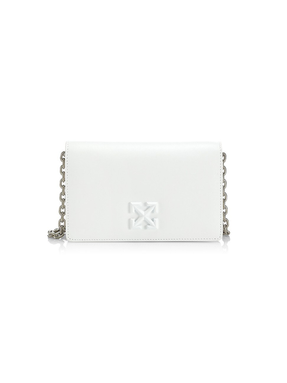 Off-White WOMEN'S JITNEY 0.5 LEATHER CROSSBOY BAG
