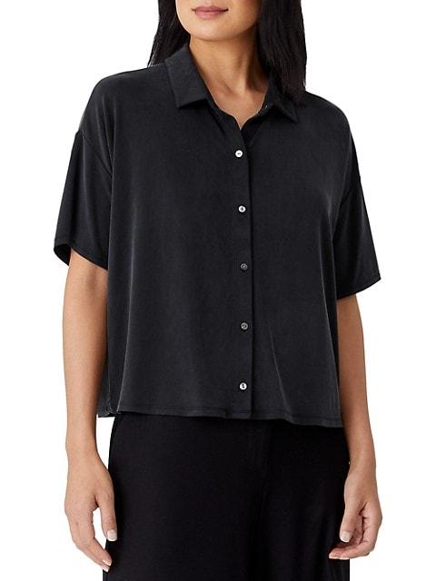 Classic Collar Short-Sleeve Shirt