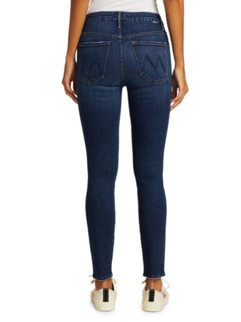 Mother High-Rise Looker Skinny Jeans   SaksFifthAvenue
