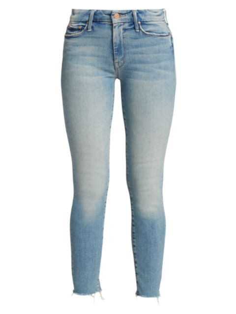 Mother The Looker Ankle Fray Jeans | SaksFifthAvenue