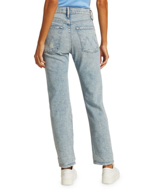 Mother The Scrapper Distressed Straight Jeans | SaksFifthAvenue