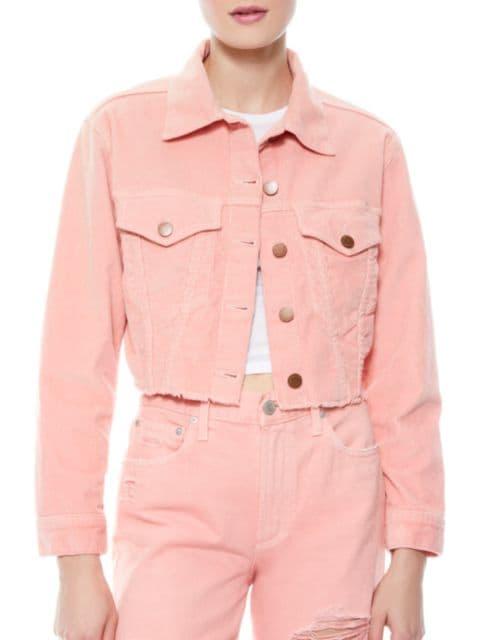 Alice + Olivia Jeans Kendall Crop Corduroy Boxy Jacket   SaksFifthAvenue