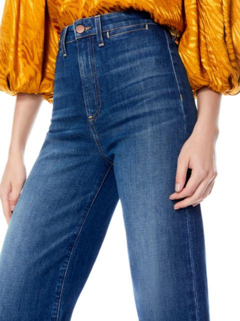 Alice + Olivia Jeans Gorgeous Coin Pocket Gaucho Jeans   SaksFifthAvenue