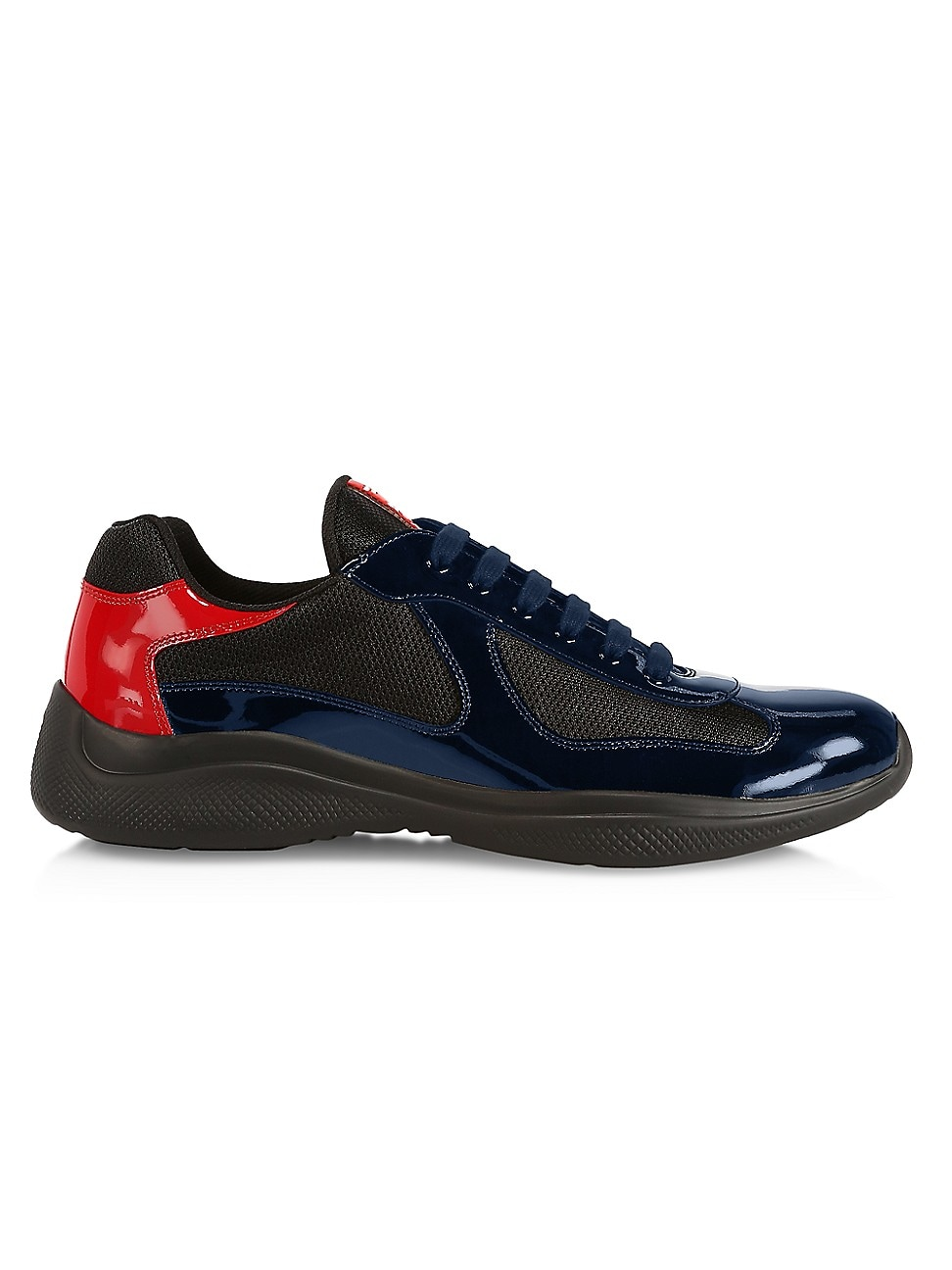 Prada MEN'S AMERICA'S CUP PATENT LEATHER & TECHNICAL FABRIC SNEAKERS